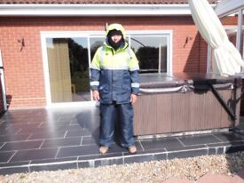 2 sets two piece survival suits little used stored and looked after with no defects.