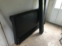 Free bed frame double black leather