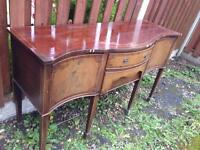 Antique vintage French dresser vanity dressing table shabby chic project Louis style