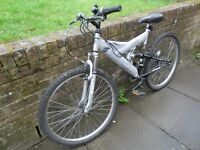 Mountain bike/cycle shockwave 550, good condition,front and rear suspension, 18 gears 26 inch wheels