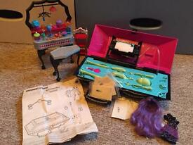 Monster High Create A Monster Design Lab, EUC, plus dressing table & DVD