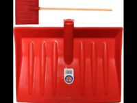 Light Weight Red Shovel Long Wooden Handle suitable for Snow Leaves Mucking Out Fertiliser etc