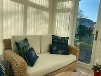 Bamboo 2 seater and 3 seater settees. Excellent condition