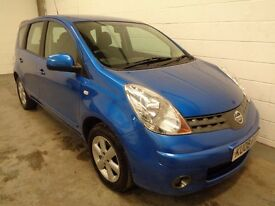 NISSAN NOTE 1.4 2008/08, LOW MILES, YEARS MOT + HISTORY, FINANCE AVAILABLE, WARRANTY