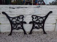 Cast iron bench ends / garden furniture / patio furniture / outdoor furniture / garden bench