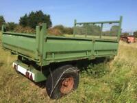 Salop twin Ram agricultural Tipping trailer