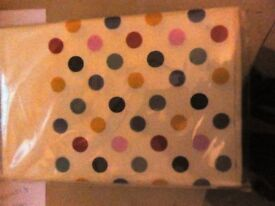 "Brand New Table Cloth Cover, ""Spotty"", 180 x 120cm, RRP £4 each from Tesco box of 8 for £5"
