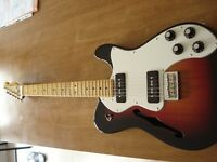 Sunburst Fender Telecaster Thinline Deluxe (Modern Player) w/ Manson's Guitars Bag