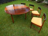 Vintage MCIntosh table and 4 chairs