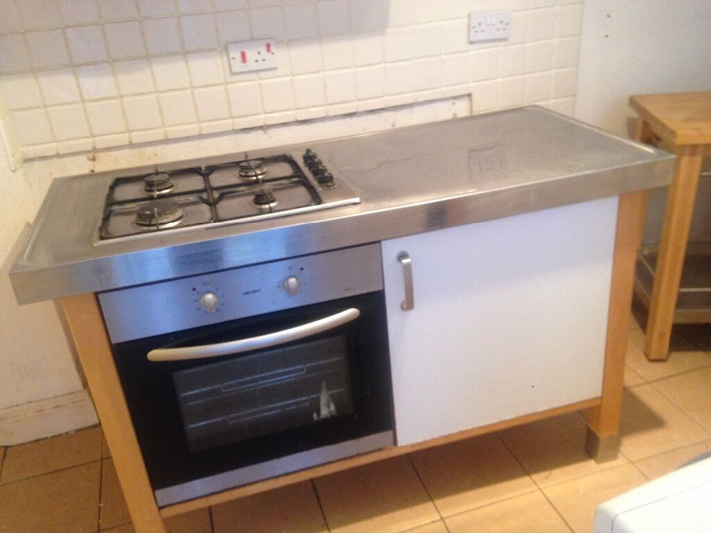 IKEA freestanding kitchen units, oven, sink, wall units, butchers ...
