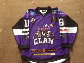 Braehead clan 2016 home game play off jersey size xxl