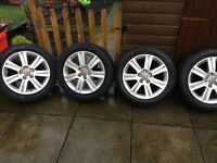 "4 17""Audi b8 alloys with great tyres"