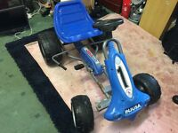 BLUE Injusa Go Kart Kids Outdoor Toy Pedal Car