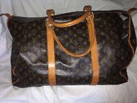 Louis Vuitton monogram canvas antique Keepall 45 Travel Bag LV chic icon vintage