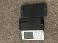 3 x old mobile phones