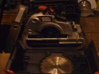 black and decker circular saw in case