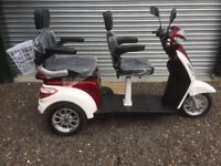 Two seat mobility scooter brand-new with forward and reverse