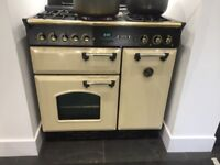 Freestanding Leisure Classic 90 Range Cooker in Cream Black Gas - Collection Only