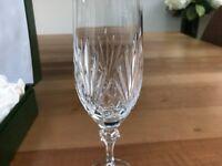 Pair of crystal wine glasses - unused