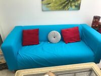 IKEA new sofa with separate blue cover