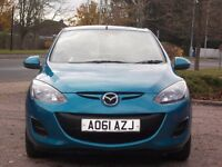 MAZDA 2 1.4 LOW MIELEAGE49000,CHEAP ROAD TAX £30,PER YEAR LONG MOT EXCELLENT
