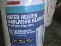 LARGE INSULATION BLANKET JACKET FOR HOT WATER TANK, NEW
