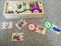 Melissa & Doug wooden alphabet learning jigsaw