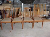Origenal G Plan chairs plus free matching table