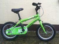 "Child's 14"" bike Ridgeback MX14 with training wheels"