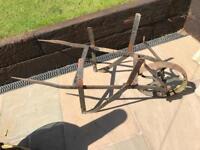 Old steel wheel barrow