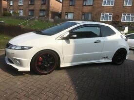Championship White Honda Civic, Supercharged, £16,000 spent on mods, Magazine Featured, 341BHP