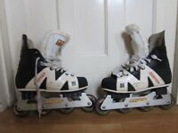 Rollerblades. UK size 8. Ice hockey style.