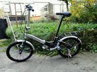 Folding Aluminium Bike,like new,light weight,branded,was£279