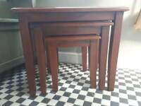 Ancient mariner nest of tables solid mahogany