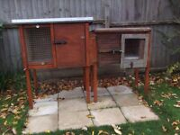 Double rabbit hutch and accessories