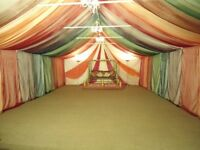 Marquee for sale with carpet and chandelier's - £400 (ONO)