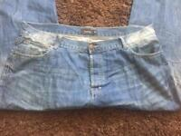 Firetrap 40R Buttonfly Jeans Worn Once