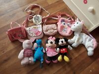 Bundle of kids favourite characters bags and teddies!