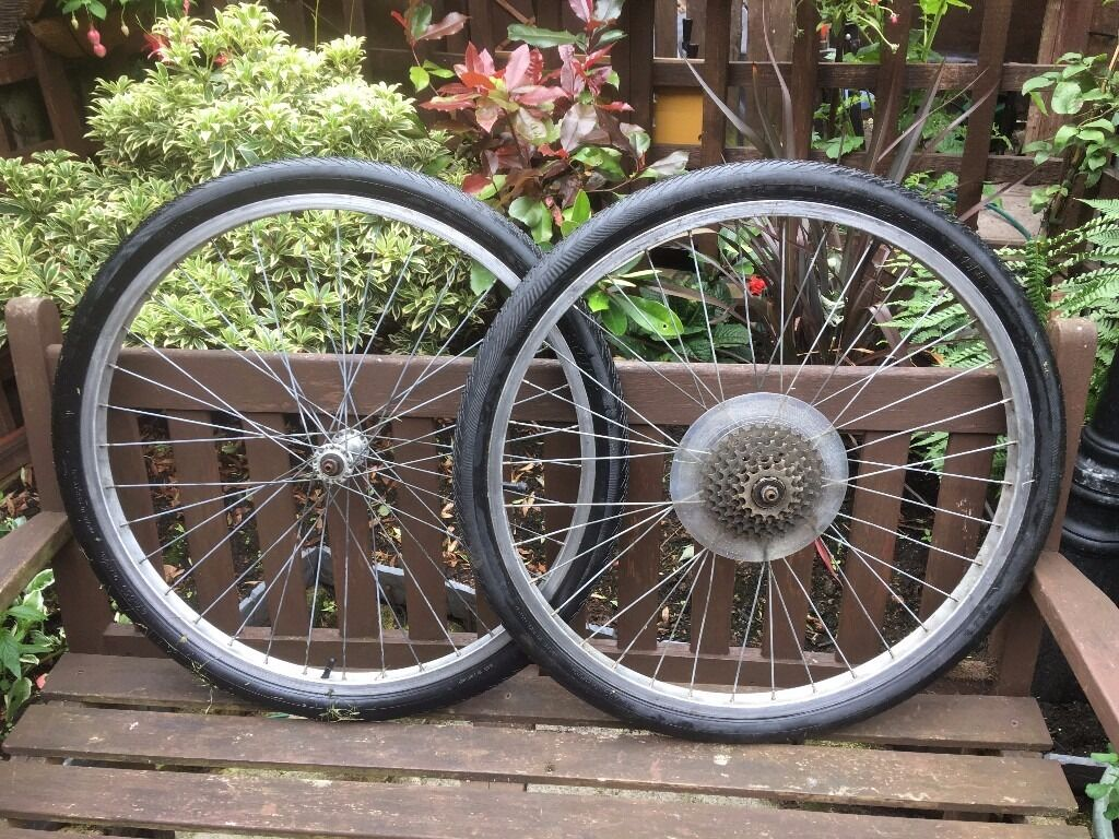 ATB alloy wheels 26 x 1.75 Q/Rin Chorley, LancashireGumtree - alloy wheels 26 x 1.75 Q/R complete with tyres and tubes Shimano 6 speed sprocket Q/R no skewers came off a retro M.B.K. mountain bike VERY LITTLE USE !