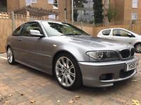2005 55, E46 BMW 330ci MSPORT Facelift Auto, 133K 8M MOT FSH, Black Leathers, 18in MV2 Alloys, Xenon