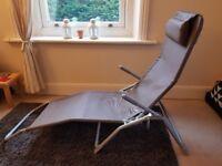 Reclining sunlounger chair