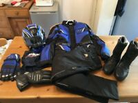 Assorted motorcycle gear