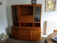 Brown wooden unit