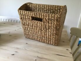 Laura Ashley Wicker Magazine rack, 2 available