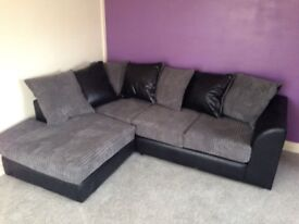 EXPRESS DELIVERY OPTION! BRAND NEW JUMBO CORD BYRON CORNER / 3+2 SOFA ==GET THE BEST SELLING BRAND==