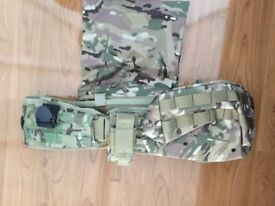 Airsoft battle belt with added pouches