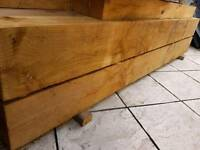 Railway sleepers 2.4m x 220 x 120 ----9 . £180 treated Softwood