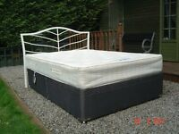 Double Divan Bed with Lift Up Storage in the Base. With a Clean Orthopaedic Mattress. Can Deliver.