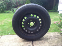 Vauxhall Vectra 15 inch 5 stud wheel with almost new tyre