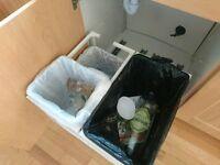 ikea kitchen bin, utrusta waste sorting trays
